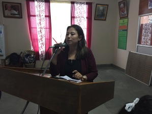 Additional District Collector(Development), Pakyong, Ms Roshni Rai delivering her concluding remarks.